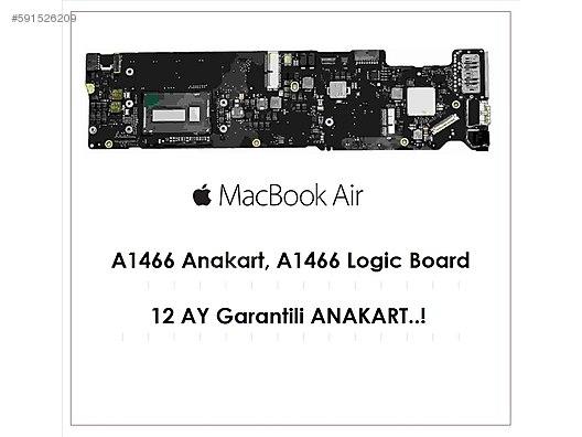 MacBook Air A1466 Anakart , 12 AY GARANTİ Mid-2013 13