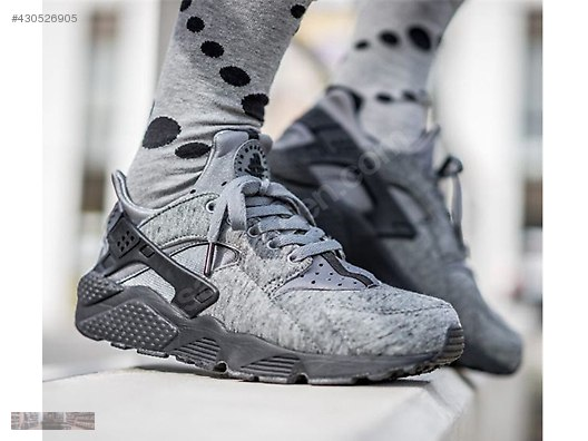 wholesale dealer 50c00 aa0eb NIKE AIR HUARACHE TECH FLEECE PACK TRAINER WOLF GREY 749659 002