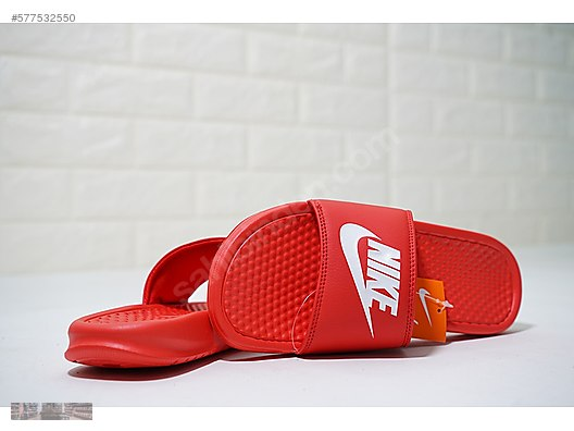 386841829bc3 Slippers   Sandals   NIKE BENASSI JUST DO IT ROYAL RED WHITE ...