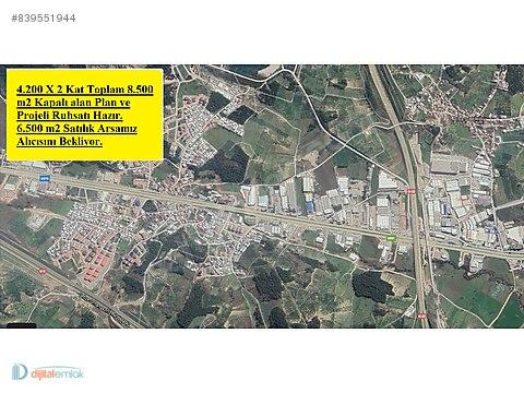 Alaşar'da 8.500 m2 Kapalı alan Ruhsat ve Projeli...