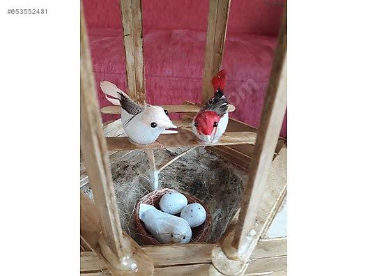 Dekoratif Kuş Kafesi Sahibinden Ahşap Boyama Masaüstü ürünler