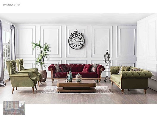 Living Room Set Weltew Chester Life Salon Takimi At