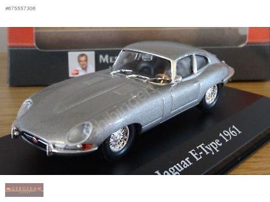 Jaguar E Type >> Jaguar E Type 1961 Silver Gergedan Hobby Diecast Model Araba