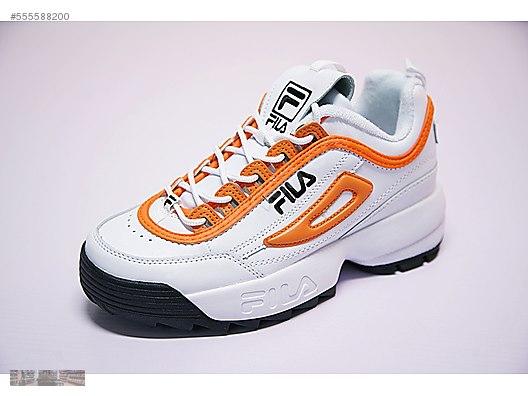 08df7b37e74 fila disruptor ii 2 orange white trainer sneaker fw0165 038