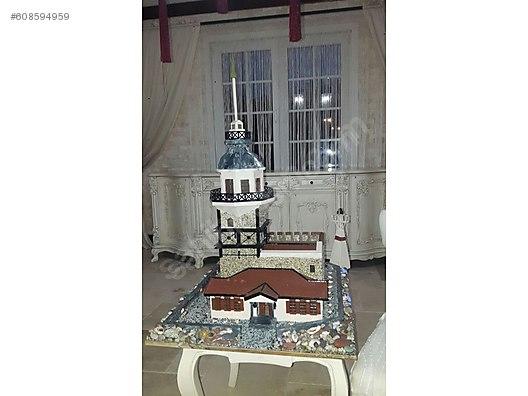 El Yapımı Kız Kulesi Sahibinden Ahşap Boyama Lamba Sahibindencom