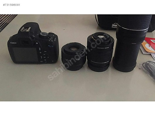 İkinci el Canon EOS 1200D (Rebel T5) DSLR Fotoğraf Makinesi