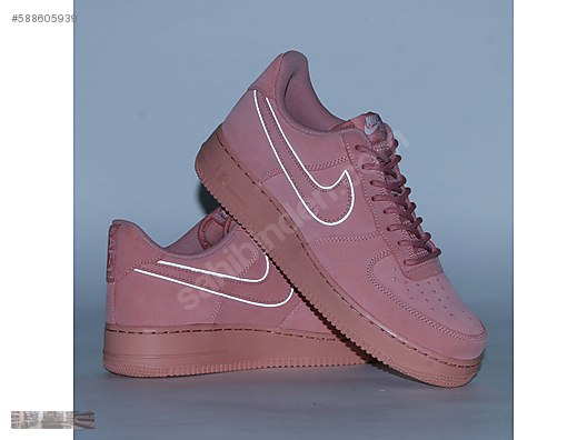 d3cd5e9c NIKE AIR FORCE 1 LOW 07 LV8 SUEDE RED STARDUST PINK AA1117 601 ...