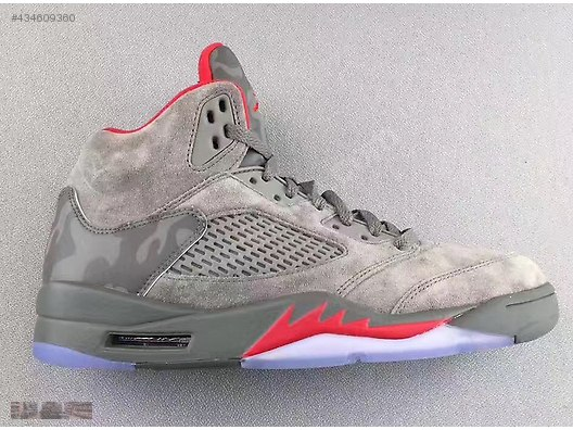 low priced 00581 8a850 NIKE AIR JORDAN 5 OLIVE SUEDE CAMO GREY REFLECTIVE 136027 ...
