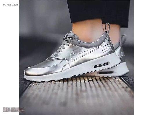 526d463415be0 İkinci El ve Sıfır Alışveriş   Giyim   Aksesuar   Kadın   Ayakkabı   Spor NIKE  AIR MAX THEA METALLIC SILVER PURE PLATINUM 819640 001 ...