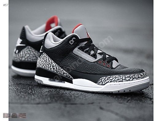 NIKE AIR JORDAN 3 RETRO OG BLACK CEMENT GREY FIRE at RED 854262 001 at FIRE 6865ab