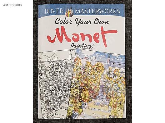 Calude Monet Boyama Kitabı Amerikadan Ithal çizim Kalemi