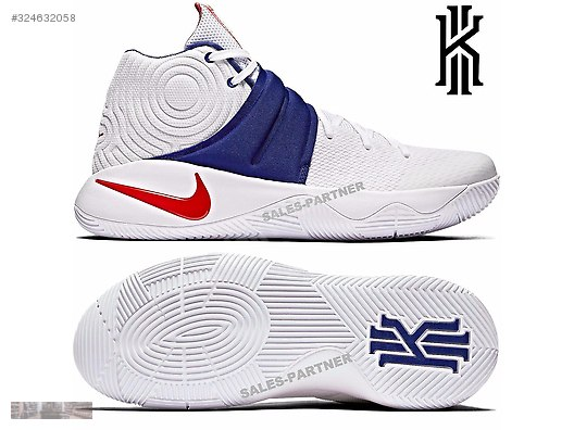 wholesale dealer ffea6 65540 nike kyrie 2 usa home of brave 4th july white rd blue 819583 164