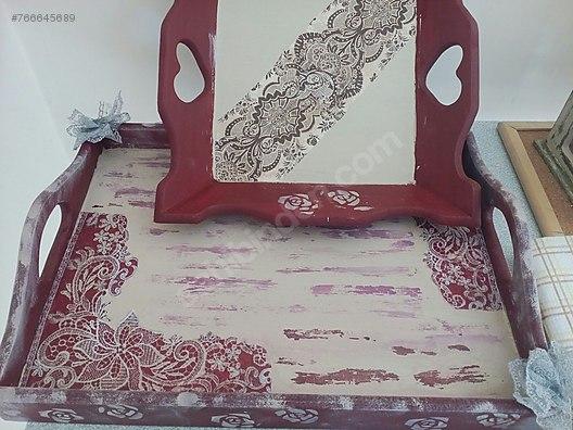 Nostaljik Eskitme Tepsi Ve Ekmek Sepeti Sahibinden Ahsap Boyama