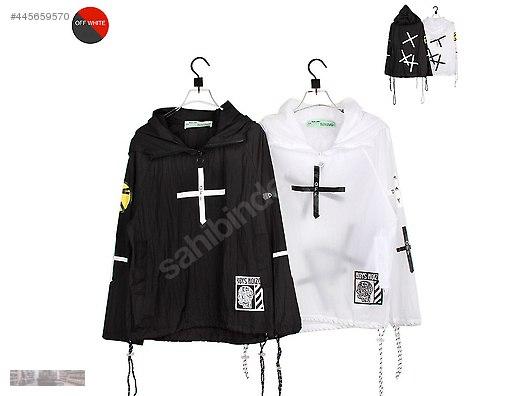 9aa7fd91dd5c off white graffiti cross printed thin windbreaker hoodie coat
