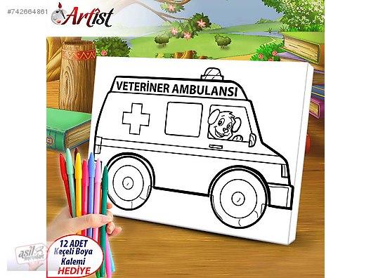 Boyama Ambulans Resmi Coloring Free To Print