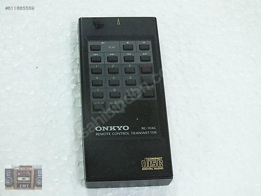 ONKYO REMOTE CONTROL CD KUMANDA RC-104C at