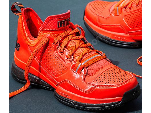 26689b1f23c adidas d lillard 1 rip city pe solar red orange black damian