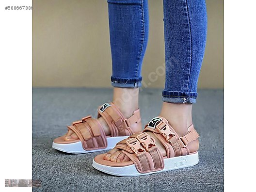 1d9b33527bf4 puma leadcat ylm powder pink womens sandals 365630 06