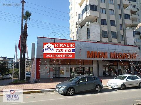 Ana Caddede Müstakil Girişli 720 m2 Kiralık Dükkan...