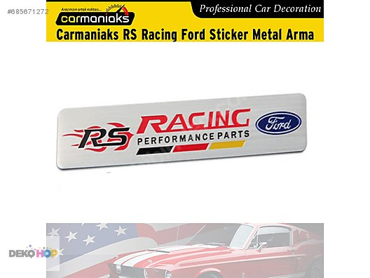 Carmaniaks Rs Racing Ford Performance Parts Sticker Metal Arma At