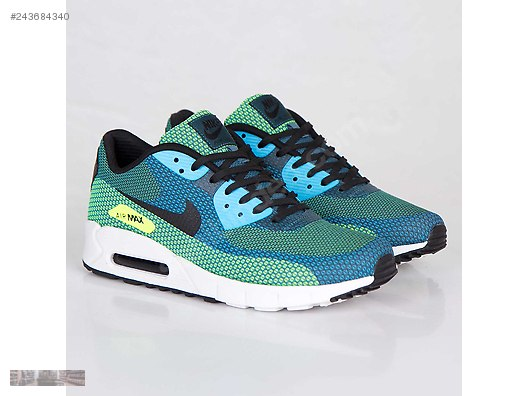 new product cdf26 94cf3 NIKE AIR MAX 90 JACQUARD TURBO GREEN BLUE 631750 301