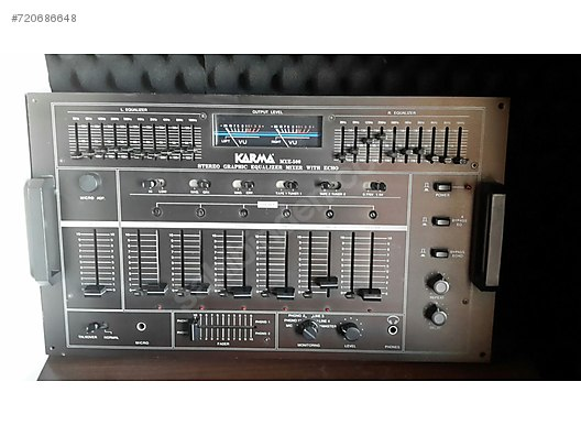 karma stereo graphic equalizer mixer with echo mxe-500