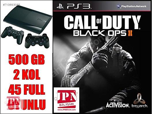 CALL OF DUTY BLACK OPS 2 PS3 500 GB 2 SIFIR KOL 45 OYUN GARANTİ at