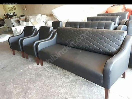 Sitting Group Office Sofa Set Yuksek Ayakli Koltuk Takimi