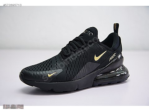 new styles 23b97 9b57c Athletic   Outdoor   NIKE AIR MAX 270 WHOLE BLACK WITH GOLD SWOOSH RUNNING  SHOES AH80 at sahibinden.com - 572695710
