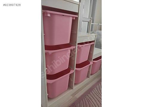 https www sahibinden com ilan ikinci el ve sifir alisveris ev dekorasyon mobilya ikea trofast oyuncak dolabi 923697826 detay