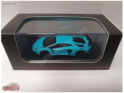 Lamborghini Aventador SV Coupe Blu Cepheus 1:32 Scale Die-cast Metal Model Car