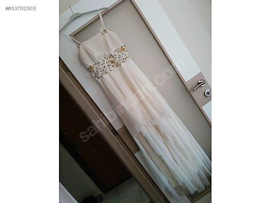 1aaefdddc43d8 İkinci El ve Sıfır Alışveriş / Giyim & Aksesuar / Evlilik & Düğün / Nişanlık  Beyaz abiye elbise KİRALIK ...