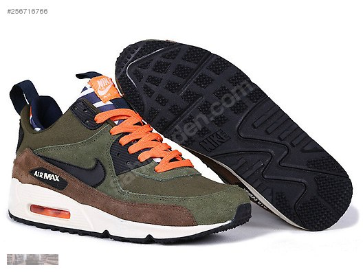nike air max 90 orange and green