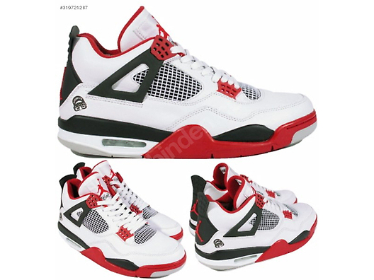 new products 8a676 0d7e2 AIR JORDAN 4 RETRO SON OF MARS FIRE RED WHITE ...