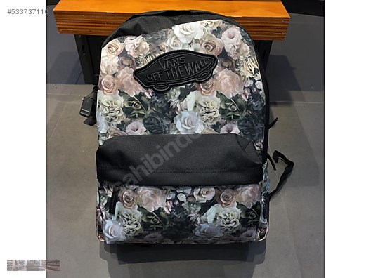 VANS OFF THE WALL REALM FLORAL VELVET BACKPACK VN000NZ0QIU aa7577659bb2f