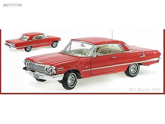 Franklin Mint 1963 Chevrolet Impala Coupe Diecast Model Araba