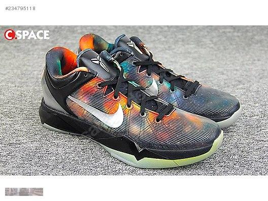 best sneakers 16421 31e83 NIKE KOBE 7 GALAXY ALL STAR BLACK ORANGE VOLT 520810 001