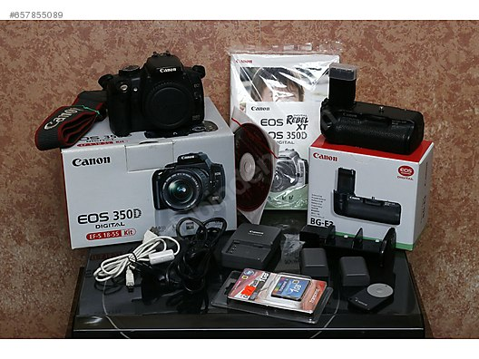 Canon EOS 350D Body & Canon BGE3 Battery Grip