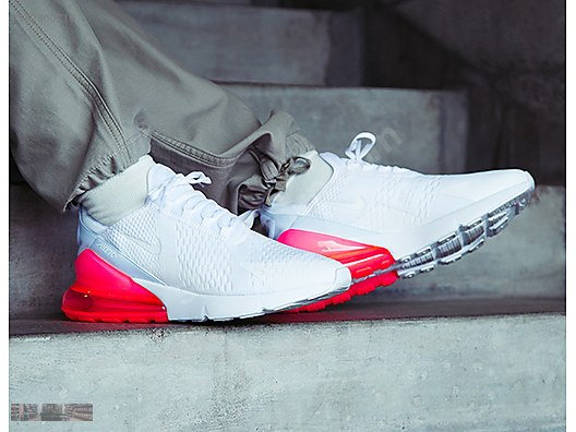 size 40 9c24d aefe7 NIKE AIR MAX 270 WHITE HOT PUNCH RED TRAINERS AH8050 103