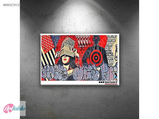 Pop Art Kolay Yağlı Boya Sanat Kanvas Tablo 40 Cm X 60 Cm