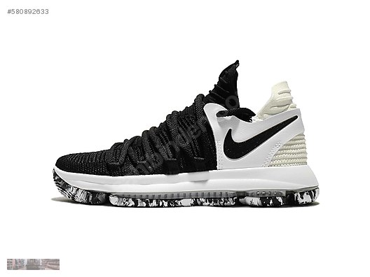 official photos 0d4f1 952e8 nike zoom kd 10 ep black white basketball shoes 897816 008