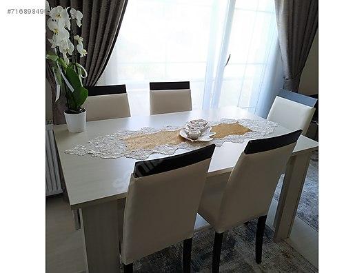 Acilabilir Yemek Masasi 6 Sandalye Weltew Masa Fiyatlari