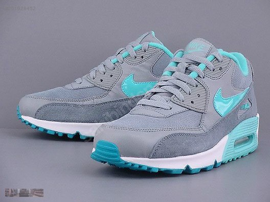 NIKE AIR MAX 90 ESSENTIAL SILVER WING GREY TURQUOISE 616730