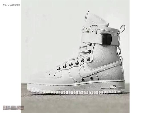 sale retailer aa5dd 401bf NIKE AIR FORCE 1 SF AF SPECIAL FIELD LIGHT BONE BOOT 857872 001