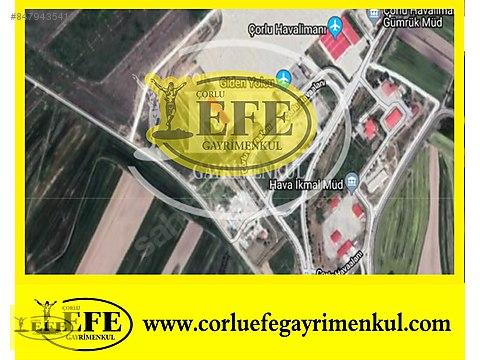 Çorlu Satılık Tarla Havaalanı Dibinde 11.400 m2...