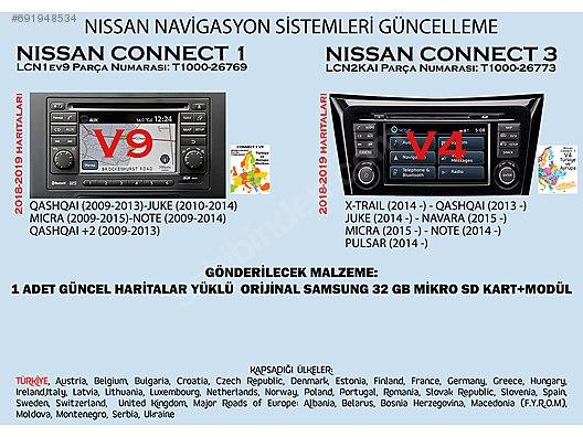 Nissan Güncel Harita SD kart (Connect3 v4 - Connect1 v9)