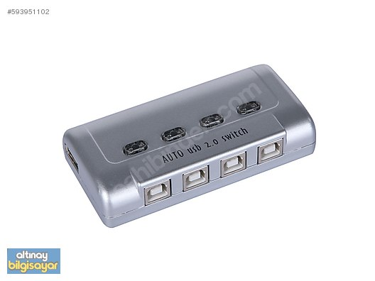 DIGITUS USB 2 0 4 PORT USB SHARING SWITCH 4 KASA YAZICI