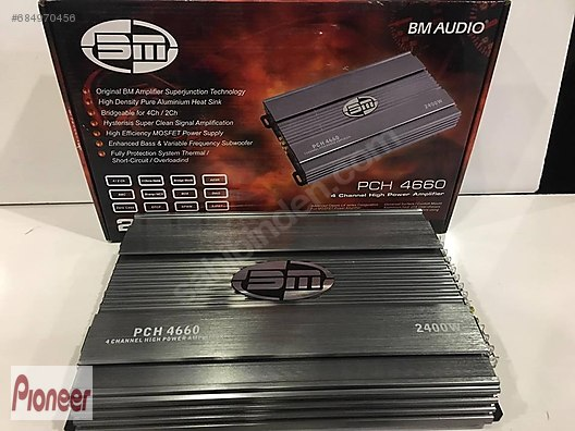 Amplifiers / BM PCH-4660 2400W OTO AMFİ BM AUDIO PRO ANFİ at