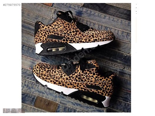 quality design f5415 f5966 NIKE WOMENS AIR MAX 90 PRM TAPE LEOPARD TIGER GRAIN 333888 036