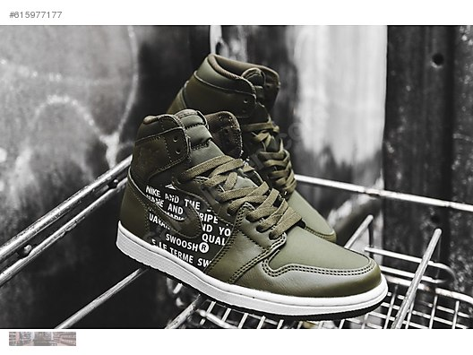 e106d862460675 nike air jordan 1 retro high og olive canvas sail 555088 300